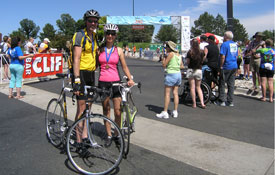 Orthodontist and wife participate in a bike race.